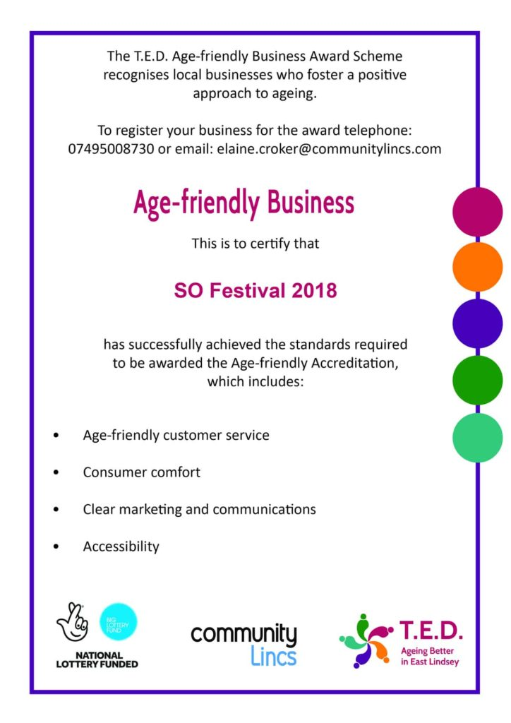 T.E.D Age Friendly Business Award 2018
